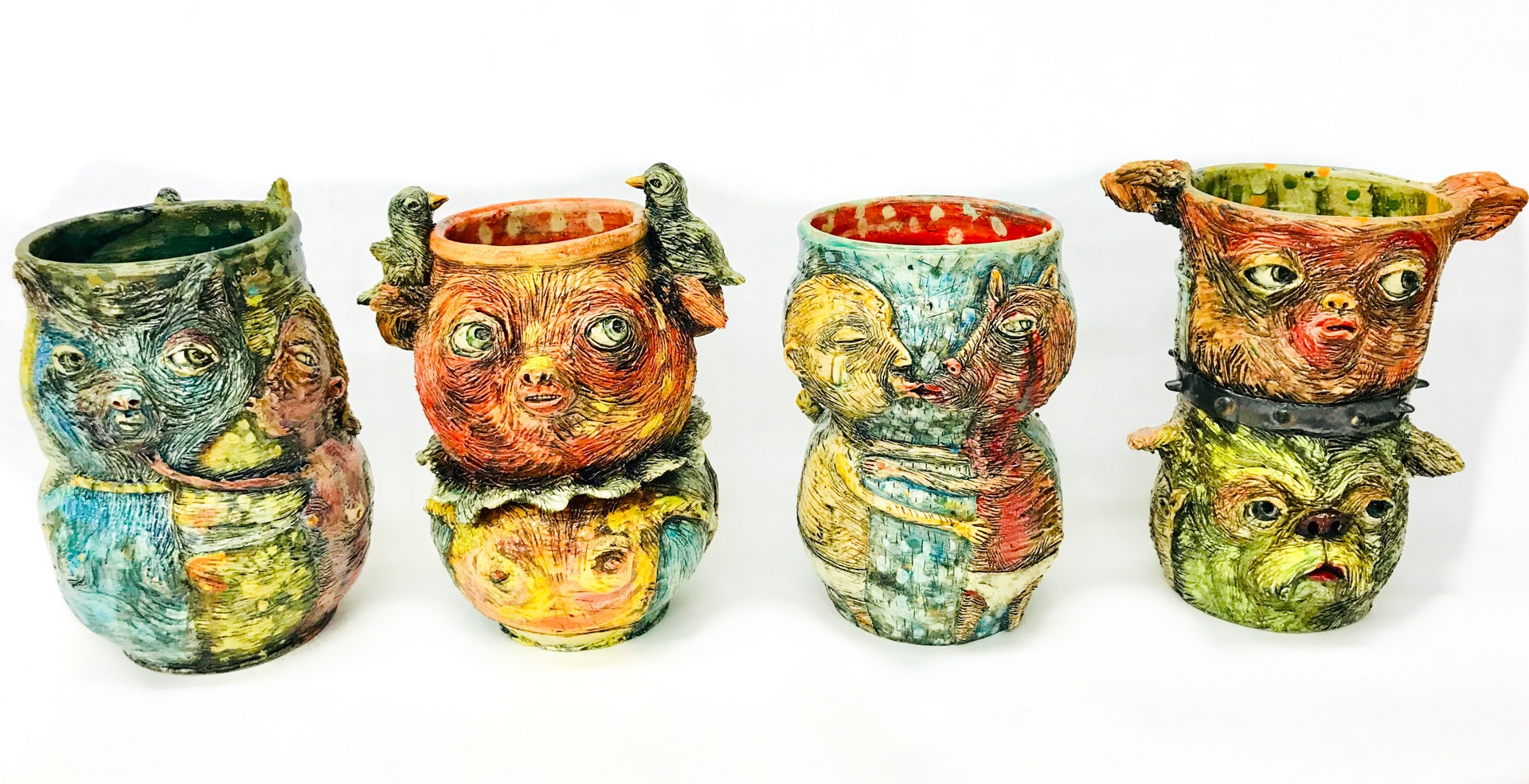 Four Thrown Vessels, 2018