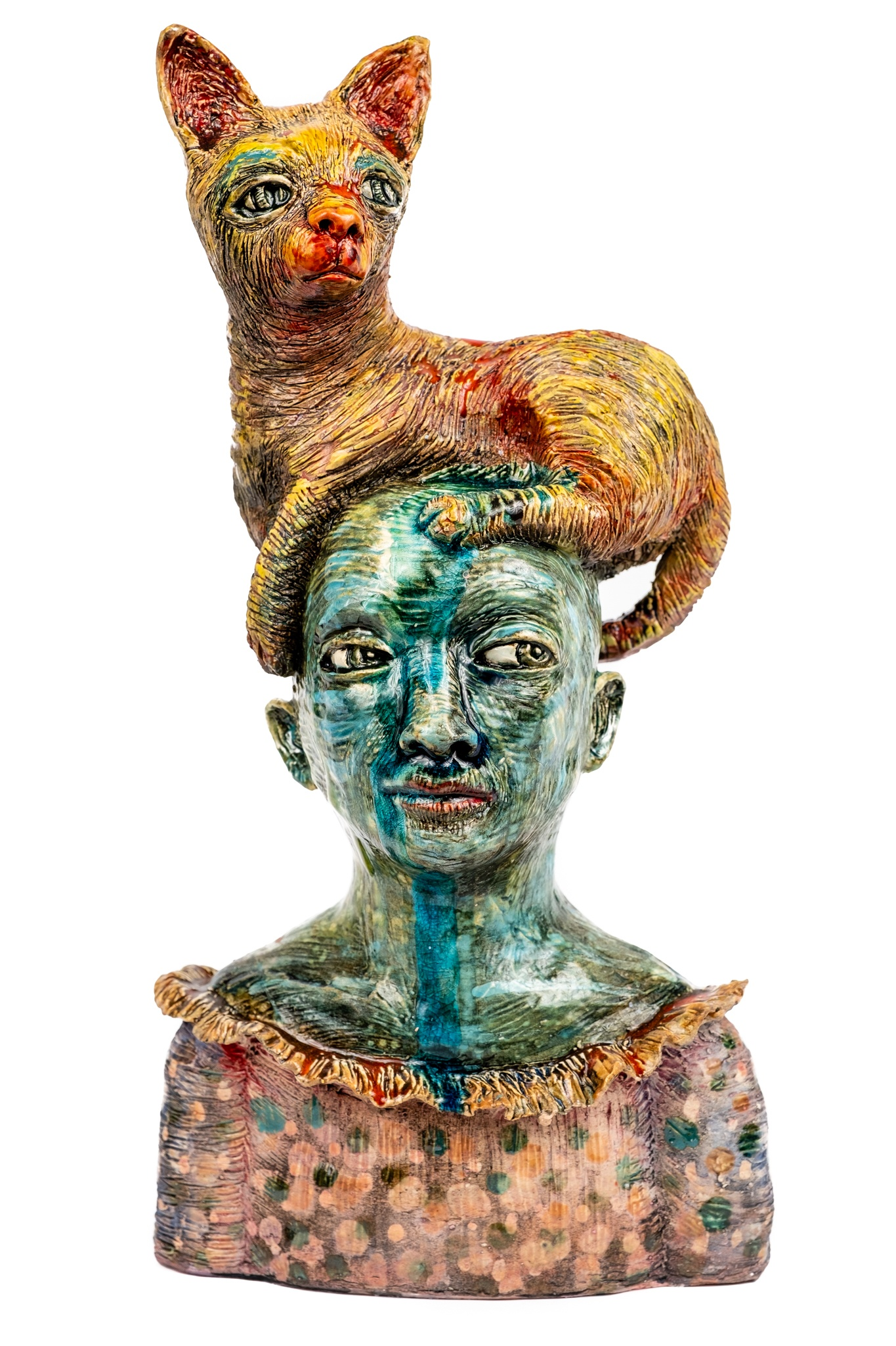 Blue Woman with Cat (front)