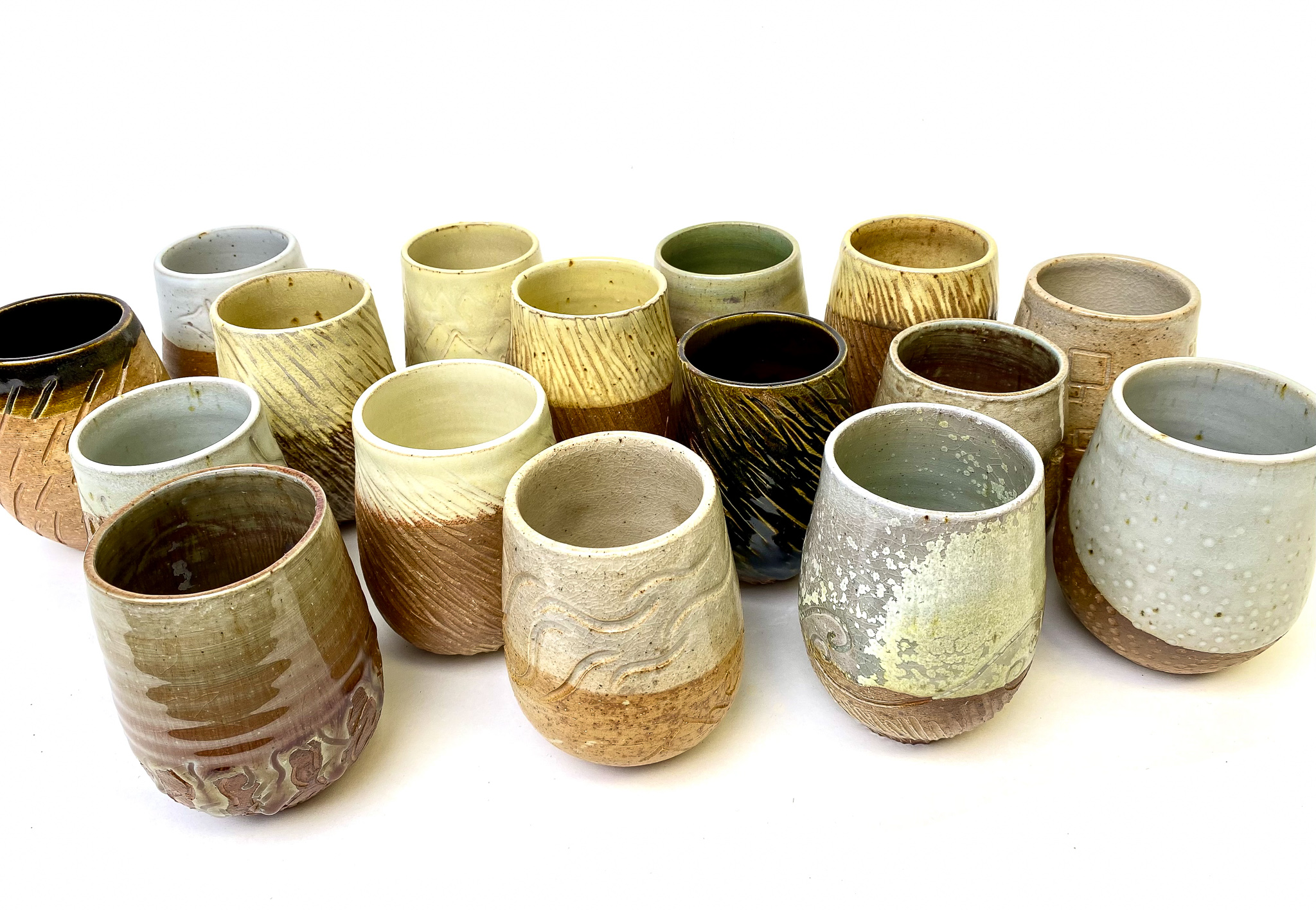 Large Set of Tumblers, Wood fired