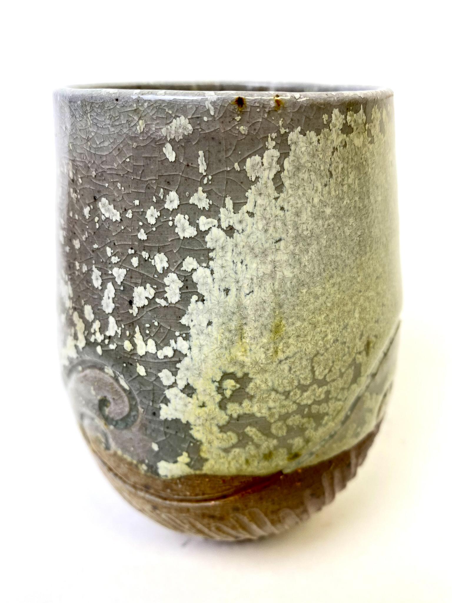 Wood/Salt Tumbler with VC Matte Glaze