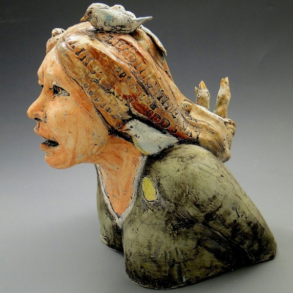 Bust with Birds